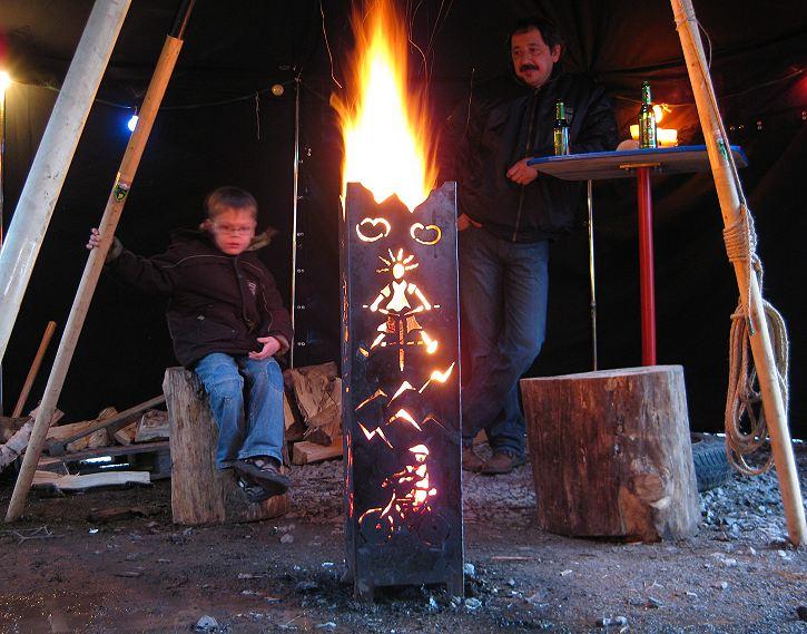 FeuersulenSchwedenfeuerFinnfeuer Amp Schwedenfackel Aus Stahl